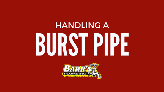 Handling a burst pipe
